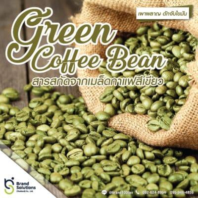 อาหารเสริม สูตรสารสกัดจากเมล็ดกาแฟสีเขียว