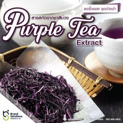 สูตรสารสกัดจากชาสีม่วง Purple Tea Extract