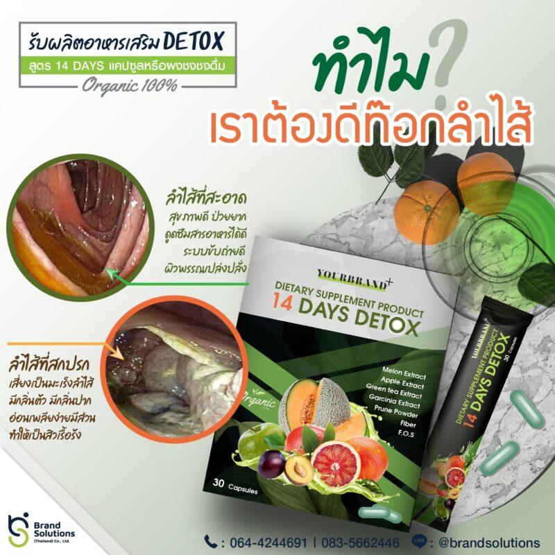 รับผลิตดีท็อกซ์ รับผลิตอาหารเสริม Detox ดีท็อกซ์ชงดื่ม